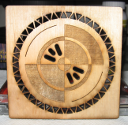 Self-designed test pattern with cuts, engraving, and etching